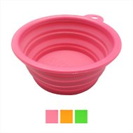 Alfie Pet Collapsible Silicone Travel Bowl, Hot Pink