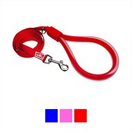 Wigzi Nylon Standard Gel Handle Dog Leash, 6-ft, 5/8-in, Red
