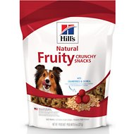 Hill's Natural Fruity Snacks with Cranberries & Oatmeal Crunchy Dog Treats, 8-oz bag