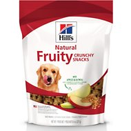 Hill's Natural Fruity Snacks with Apples & Oatmeal Crunchy Dog Treats, 8-oz bag