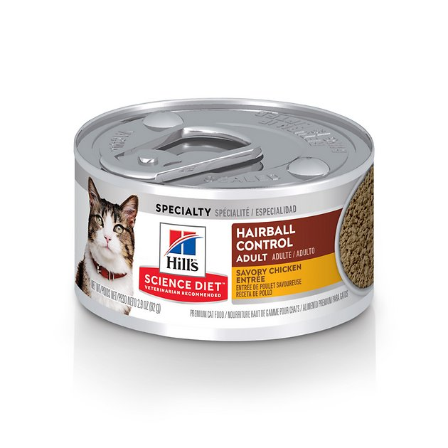 cat food dry science diet hairball control