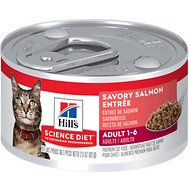 Hill's Science Diet Adult Savory Salmon Entree Canned Cat Food, 2.9-oz, case of 24