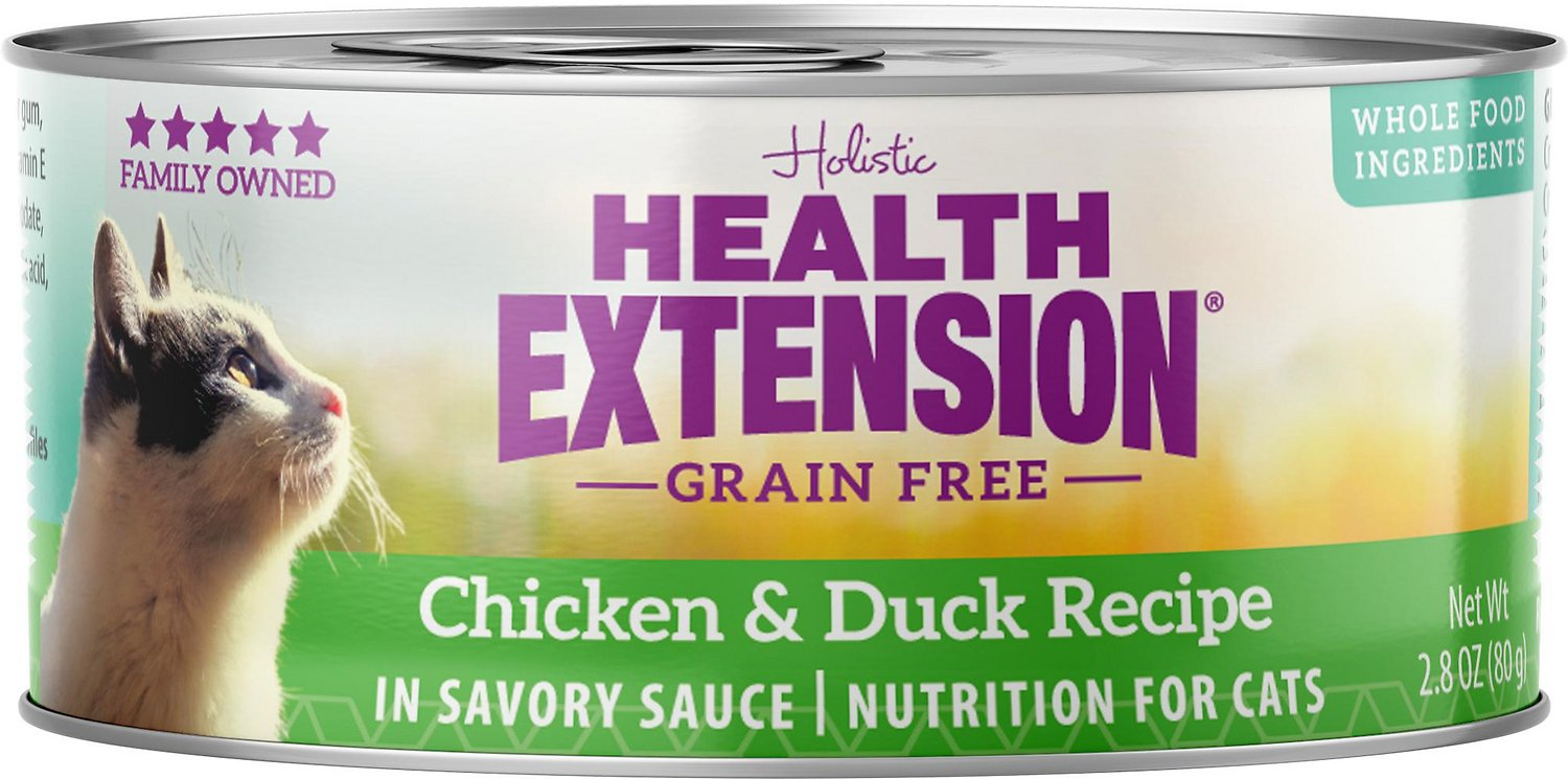 Soft Cat Food >> Health Extension Grain Free Chicken Duck Recipe Canned Cat Food 2 8 Oz Case Of 24