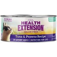 Health Extension Grain-Free Tuna & Prawns Recipe Canned Cat Food, 2.8-oz, case of 24