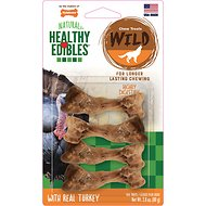Nylabone Healthy Edibles Wild Turkey Dog Bone Treat, Petite, 4 count