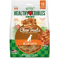 Nylabone Healthy Edibles Bacon Buddies Bacon Flavored Dog Treats, 15 count
