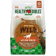 Nylabone Healthy Edibles Venison Flavored Antler Wolf Dog Treats, 10 count