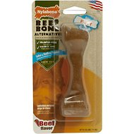 Nylabone Puppy Beef Bone Alternative Dog Chew Toy, Petite