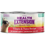 Health Extension Grain-Free Tilapia & Tuna Recipe Canned Cat Food, 2.8-oz, case of 24