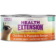 Health Extension Grain-Free Chicken & Pumpkin Recipe Canned Cat Food, 2.8-oz, case of 24
