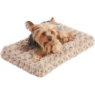 Frisco Mocha Swirl Pet Bed & Crate Mat, 18-in