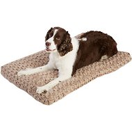 Frisco Mocha Swirl Pet Bed & Crate Mat, 36-in