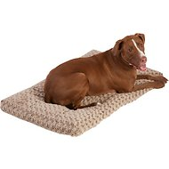 Frisco Mocha Swirl Pet Bed & Crate Mat, 42-in