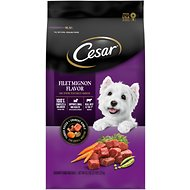 Cesar Filet Mignon Flavor & Spring Vegetables Garnish, Small Breed Dry Dog Food, 2.7-lb bag