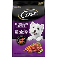 Cesar Filet Mignon Flavor & Spring Vegetables Garnish, Small Breed Dry Dog Food, 5-lb bag