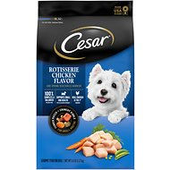 Cesar Rotisserie Chicken Flavor & Spring Vegetables Garnish, Small Breed Dry Dog Food, 5-lb bag