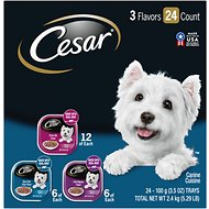 Cesar Filets in Gravy Beef Flavors Variety Pack Dog Food Trays