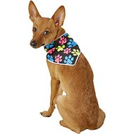Healers Spot-Lite LED Lighted Dog Bandana, Paw Print, Small