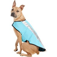 Healers Spot-Lite LED Mesh Back Lighted Dog Jacket, Teal, Large