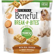 Purina Beneful Break-N-Bites Crunchy Chicken & Sweet Potatoes Dog Treats, 14-oz bag