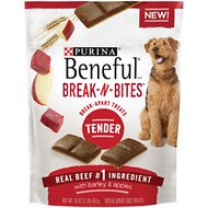 Purina Beneful Break-N-Bites Tender Beef with Barley & Apples Dog Treats, 16-oz bag