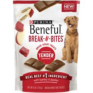 Purina Beneful Break-N-Bites Tender Beef with Barley & Apples Dog Treats, 6-oz bag