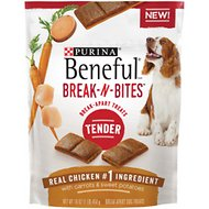 Purina Beneful Break-N-Bites Tender Chicken with Carrots & Sweet Potatoes Dog Treats, 16-oz bag