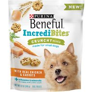 Purina Beneful IncrediBites for Small Dogs Crunchy Minis With Real Chicken & Carrots Dog Treats, 12-oz bag