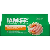 Iams ProActive Health Adult With Chicken & Whole Grain Rice Pate Canned Dog Food, 13-oz, case of 6