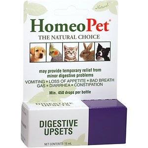 HomeoPet Digestive Upsets Homeopathic Medicine for Digestive Issues for Birds, Cats, Dogs & Small Pets, 450 drops