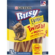 Busy Bone with Beggin' Twist'd! with Real Bacon Mini Dog Treats, 12 count