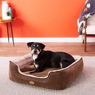 Best Pet Supplies Faux Leather Square Pet Bed, X-Large