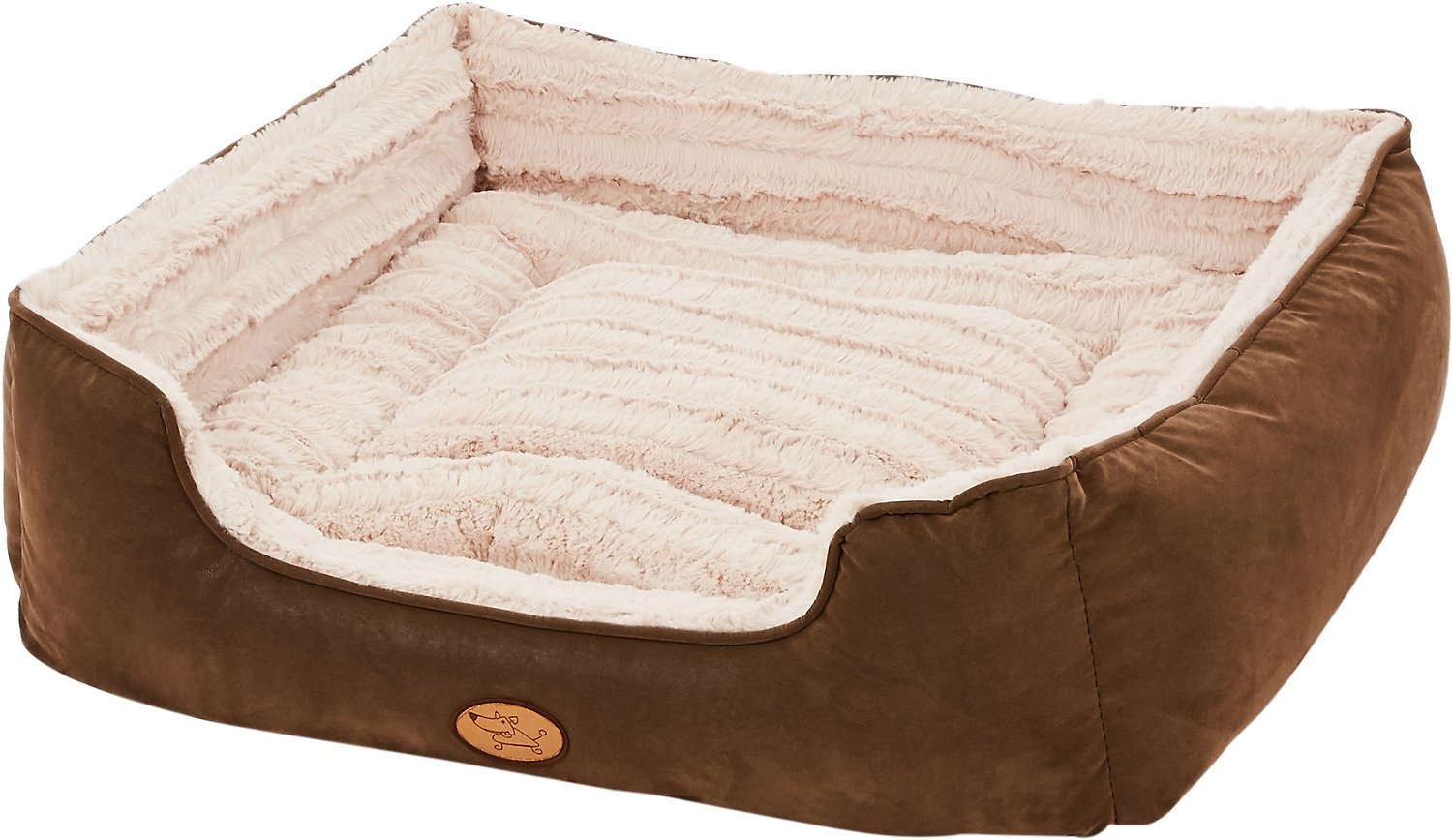 Best Pet Supplies Faux Leather Square Pet Bed X Large
