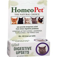 HomeoPet Feline Digestive Upsets Cat Supplement, 450 drops