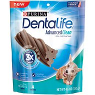 DentaLife Advanced Clean Oral Care Mini Dental Dog Treats, 4 count
