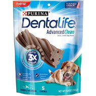 DentaLife Advanced Clean Oral Care Small/Medium Dental Dog Treats, 5 count