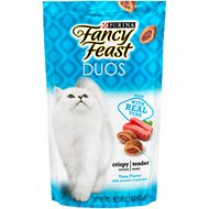 Fancy Feast Duos Tuna Flavor with Accents of Parsley Cat Treats, 2.1-oz bag