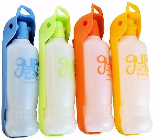 Portable Dog Water Bottle >> Gulpy H2O to Go Portable Pet Water Dispenser, Color Varies, 20-oz - Chewy.com