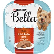 Purina Bella Grilled Chicken Flavor in Savory Juices Small Breed Dog Food Trays