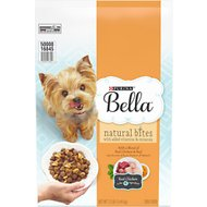 Purina Bella Natural Bites with Real Chicken & Beef & Accents of Sweet Potatoes & Spinach Small Breed Dry Dog Food, 12-lb bag