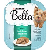 Purina Bella Porterhouse Steak Flavor in Savory Juices Small Breed Dog Food Trays, 3.5-oz, case of 12
