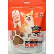 Petya Peanut Butter & Honey Pure Power Superfood Protein Dog Treats, 5-oz bag