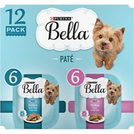 Purina Bella Filet Mignon & Porter House Steak Flavor Variety Pack Small Breed Dog Food , 3.5-oz, case of 12