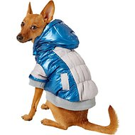 Pet Life Sporty Vintage Aspen Dog Ski Jacket, Blue, Small
