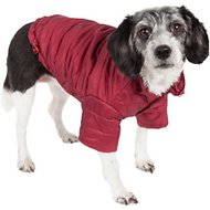 Pet Life Lightweight Sporty Avalanche Dog Coat, Red, Small