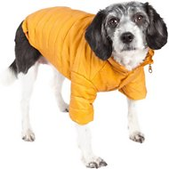 Pet Life Lightweight Sporty Avalanche Dog Coat, Yellow, Medium