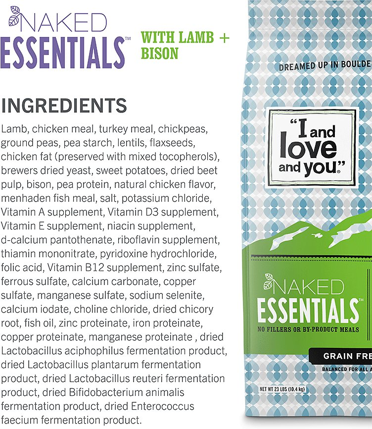 I AND LOVE AND YOU Naked Essentials Lamb & Bison Recipe