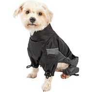 Touchdog Quantum-Ice Full-Bodied Reflective Dog Jacket with Blackshark Technology, Grey, Small