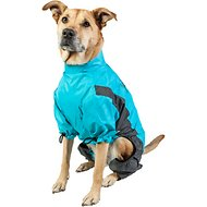 Touchdog Quantum-Ice Full-Bodied Reflective Dog Jacket with Blackshark Technology, Ocean Blue, X-Large