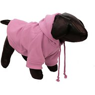 Pet Life Fashion Plush Cotton Hooded Dog Sweater, Pink, Small